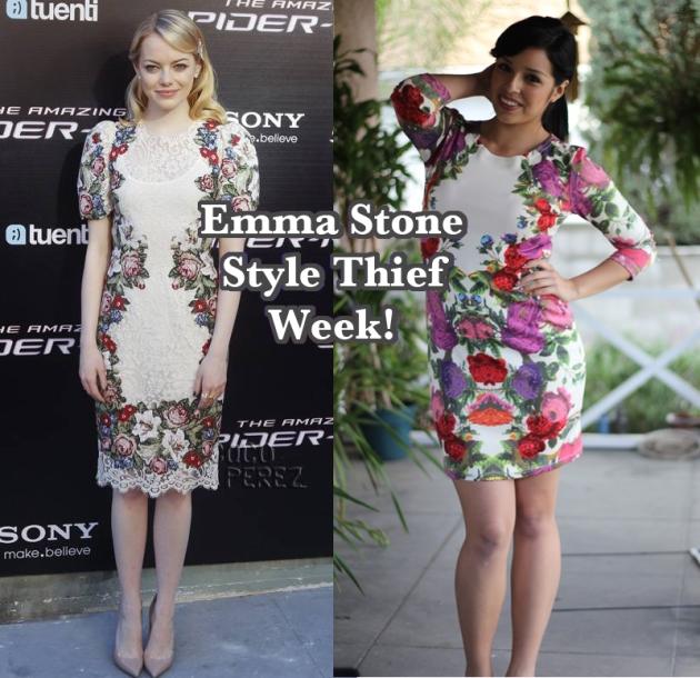 Emma Stone Floral Dress